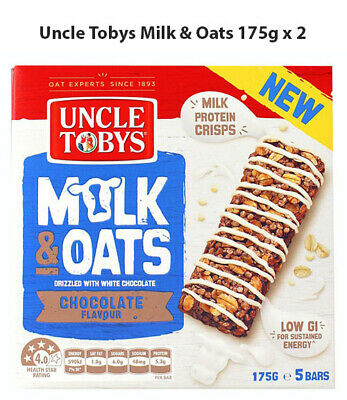 Uncle Tobys Milk & Oats Chocolate 175g x 2 (BBD: 29/6/19)