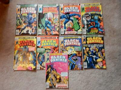 Black Panther #2, #3, #4, 5, #8, #10, #11, #12, #13 Bronze Age Distressed Lot