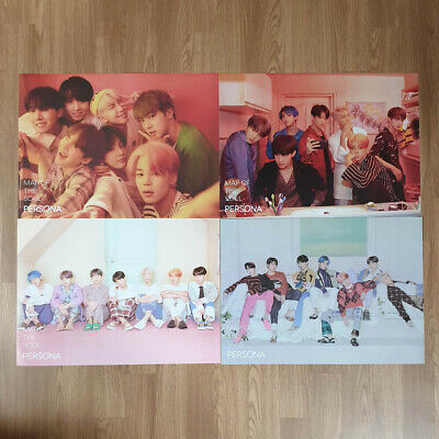 Poster Set Only BTS Map Of The Soul : Persona Official Hard Case Tube Packing