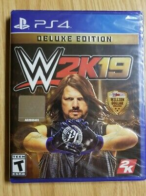 WWE 2K19 Deluxe Edition for Sony PlayStation 4 PS4 Wrestling John Cena Ric Flair