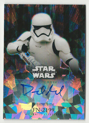 David Acord as FN-2199 Topps Chrome Star Wars Force Awakens Autograph Card /99
