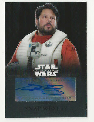 Greg Grunberg as Snap Wexley Topps Chrome Star Wars Force Awakens Autograph Card