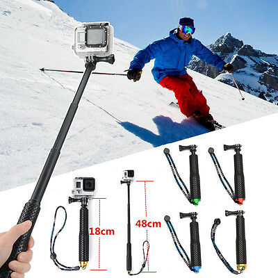 Unique Waterproof Extendable Telescopic Stick Selfie Pole For Gopro Hero SJ4000