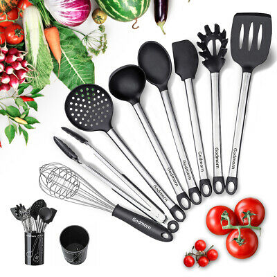 Godmorn 8pcs Set Stainless Steel Kitchen Cooking Tool Utensil Spoon Ladle