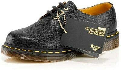 24a31ddffdb 💥50th Anniversary Dr. Martens Doc MIE 1461 Black Leather shoes UK12 US13💥
