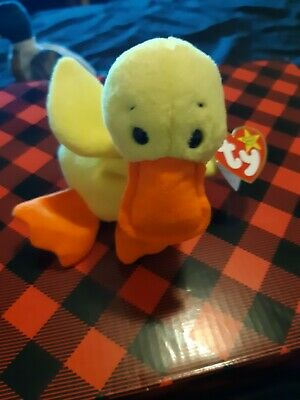 52d1f32080e RETIRED AUTHENTICATED  QUACKERS  Ty Beanie Baby~Duck ~3rd gen~MWNMT ...