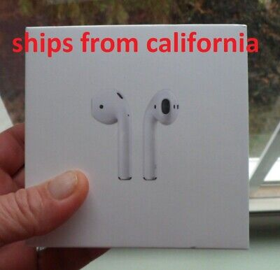Apple AirPods White MMEF2AM/A In Ear Wireless Bluetooth Headset - New In Box