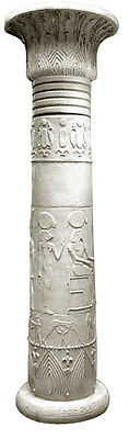 "Magnificent Egyptian Papyrus Column 110"" Museum Sculpture Replica Reproduction"