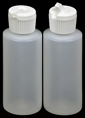 Plastic Bottle w/White Turret Lid, 2-oz., 30-Pack, New