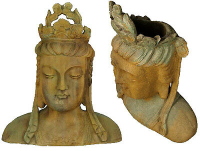 """Chinese Goddess bust Planter Sculpture 25"""" Replica Reproduction"""