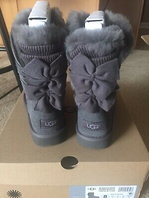 b8b1a32bbdf PURPLE PORT UGG Boots Size 8 Bailey Bow New In Box - $129.00 | PicClick