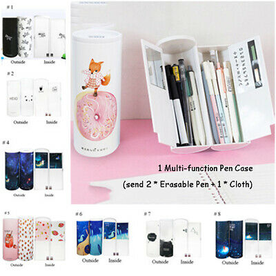 Creative Large Capacity Pencil Case Multi-function MagneticSwitch Plastic PenBox