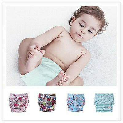Reusable Baby Cloth Diapers OneSize Washable Pocket Nappies With Insert Hip Snap
