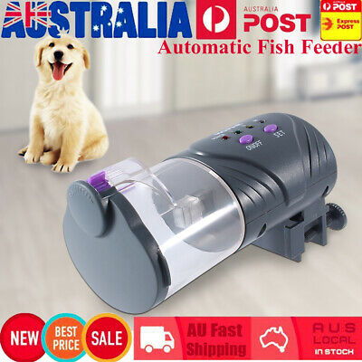 AU Automatic Fish Food Feeder Pet Feeding Aquarium Tank Pond Auto Tank Dispenser