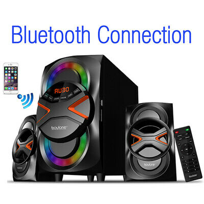 New Boytone BT-326F, 2.1 Bluetooth Powerful Home Theater Speaker System, with FM