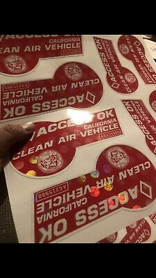 Red Carpool Stickers (novelty) 4pcs