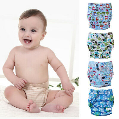 Baby Cloth Diapers Lot One Size Reusable Washable TPU Pocket Nappies + Insert