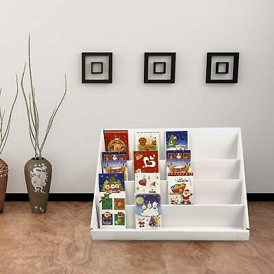 2X4 Collapsible Cardboard Greeting Card Display Stand Counter Stand Tier White