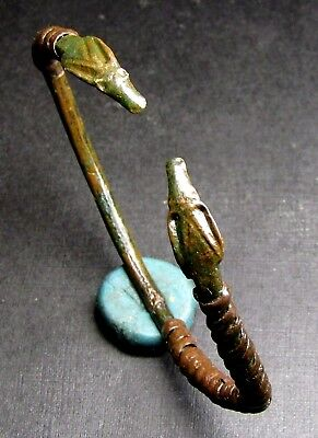 Ancient Bronze VIKING Bracelet Restoration (Glued) SNAKE.   4 Century.
