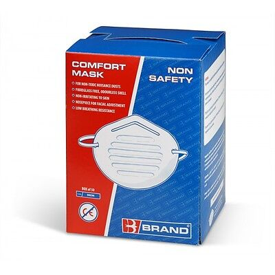 Box 50 Nuisance Disposable Dust Masks Swift Brand Safety Non Toxic