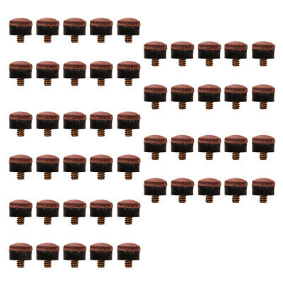 10X Screw On Cue Tips For Billiard Pool Cue Stick Snooker Replacement 10~13MmFD