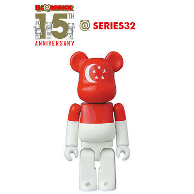 517eb89c MEDICOM 100% BEARBRICK Be@rbrick 15th Anniversary Series 32 Flag ...