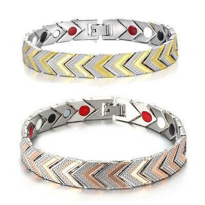 Men Women Therapeutic Energy Healing Magnetic Bracelet Therapy Arthritis Gifts