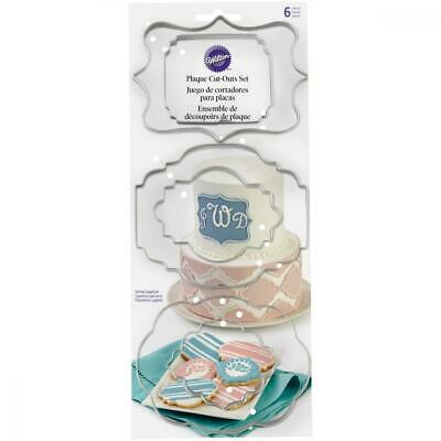 Wilton Fondant Plaque Cut Outs, set of 6