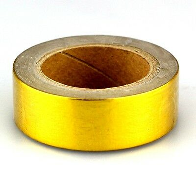 Mix Solid Color Golden Foil Washi Tape Decorative Masking Adhesive Tape 10m/Roll