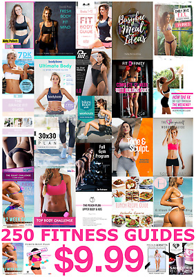 250 FITNESS GUIDE SONIA TLEV KAYLA ITSINES ASHY BINES ANNA VICTORIA..& more