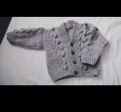 3-6 Months  Knitted Boys  Cardigan In Silver grey.. Brand New... NEW COLOUR