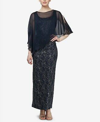 SL Fashions Lace Cape Gown Size 14 MSRP $179 # 8B 534 New