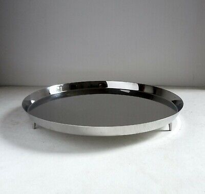 Christopher Dresser Alessi Officina CIRCULAR TRAY. Italy Stainless Steel
