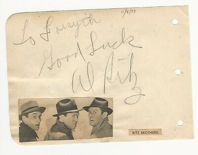 Cards & Papers Jack Holt Autographed Album Page Popular Star Of 1940s Westerns D.51