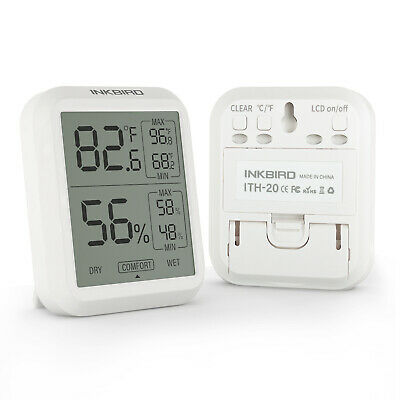 Inkbird ITH-20 Temperature Humidity Sensor LCD Display Thermometer Hygrometers