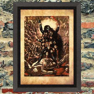Ancient Art Print  Occult Antique Effect Historic Curio God Demon Weird Strange