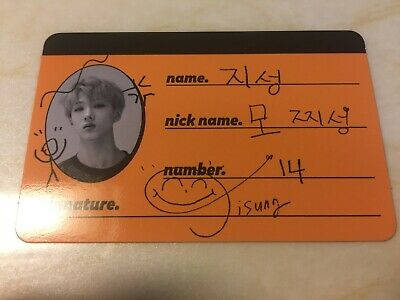 NCT Dream JISUNG [ WE GO UP Official CREW CARD Photocard ] 2nd Album /New /+Gift