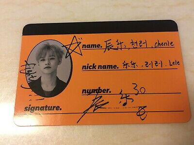 NCT Dream CHENLE [ WE GO UP Official CREW CARD Photocard ] 2nd Album /New /+Gift