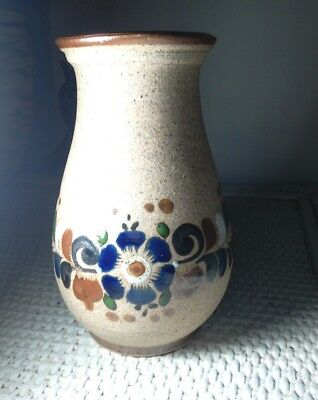 Mexican ceramic flower vase