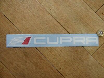 """CUPRA Flag & Text Side Boot Decal / Sticker - White Red - (300mm 12"""") Fits SEAT"""