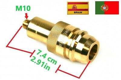 LPG GPL GAS EURO SPAIN PORTUGAL ADAPTER M10  filler FILLING BRASS