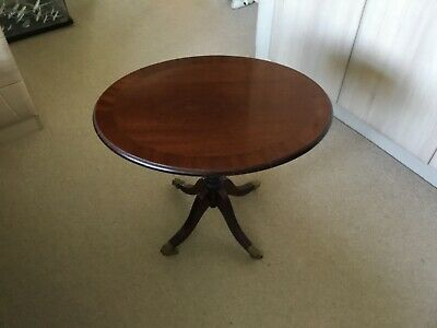 Elegant traditional style solid top mahogany lamp table - not veneer. REDUCED!