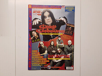 Break Out Zeitschrift Magazin Heft 6/2003 Ozzy Osbourne HIM Queensryche Omen