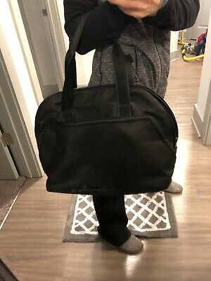 e30b762518df23 LULULEMON GYM BAG black Yoga mat Loops wine Lining Mint Shape ...