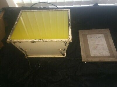 Vintage Darkroom Kodak Lamp Safelight Kodak Photography with glass
