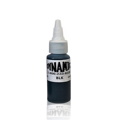 1oz DYNAMIC BLACK Tattoo Ink - Original bottle for lining and shading