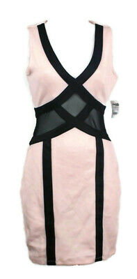 5a0473d72dc Charlotte Ruse Juniors Dress Size S Pastel Pink Black Sleeveless Open Back  Mesh