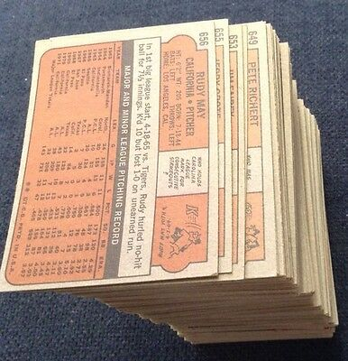 1972 Topps HIGH NUMBER Baseball YOU PICK 6 LOT 646 643 632 631 629 618 615 610