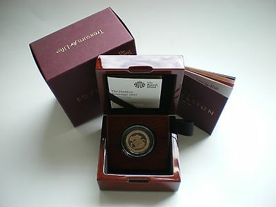 2017 Great Britain Pistrucci PIEDFORT Gold Proof Full Sovereign Coin - in stock