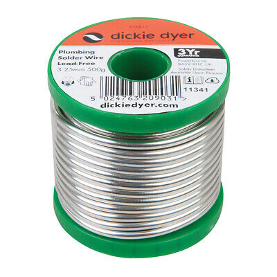 Dickie Dyer Plumbing Solder Wire Lead-Free 3.25mm 500g